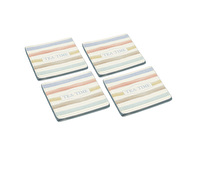 Classic Collection Vintage-Style Set of 4 Ceramic Drink Coasters