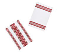 KitchenCraft Jacquard Tea Towels - Jacquard Dark Red