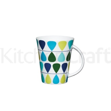 Kitchen Craft Fine Porcelain Teardrop Mug