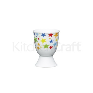 KitchenCraft Brights Stars Porcelain Egg Cup