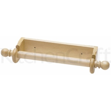 KitchenCraft Beech Wood Wall Paper Towel Holder