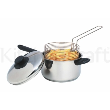 Kitchen Craft Stainless Steel Large Chip Fryer and Basket