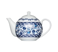 Kitchen Craft Traditional Blue Fine Porcelain 4 Cup Teapot