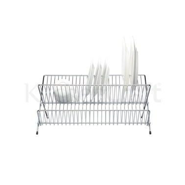 KitchenCraft Chrome Plated Large Fold Away Dish Drainer