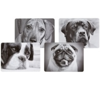 KitchenCraft Dog Cork Back Laminated Set of 4 Placemats