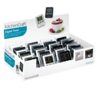 Kitchen Craft Display of 24 Slimline Digital Timers