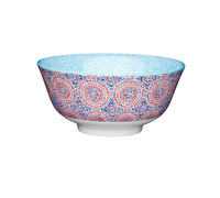 KitchenCraft Blue and Red Mosaic Style Ceramic Bowls