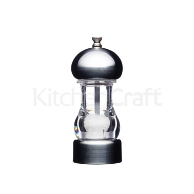 Master Class Tabletop Chrome Effect Filled Salt Mill