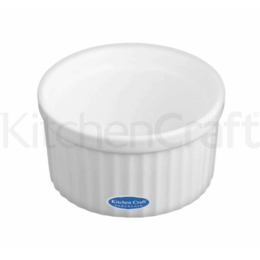 KitchenCraft White Porcelain 9cm Fluted Ramekin
