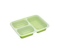KitchenCraft Healthy Eating 5-Pack Portion Control Lunch Boxes with Compartments