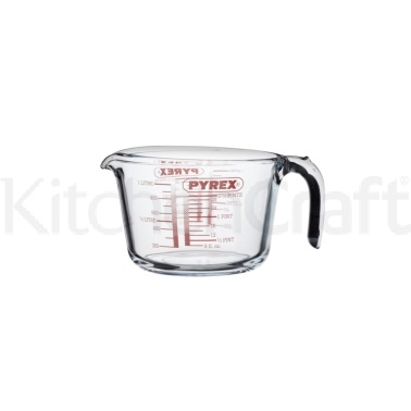 Kitchen Craft Glass 1100ml (2 Pint) Measuring Jug