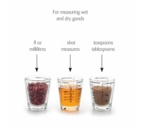 KitchenCraft Display of 18 Glass Mini Measures
