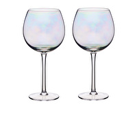 BarCraft Set of Two Iridescent Gin Glasses