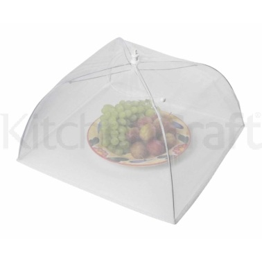 Kitchen Craft 40cm White Umbrella Food Cover