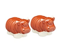 KitchenCraft Ceramic Highland Cow-Shaped Novelty Salt and Pepper Shakers