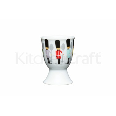KitchenCraft Children's Soldiers Porcelain Egg Cup