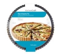 KitchenCraft Non-Stick Loose Base 24.5cm Flan / Quiche Tin