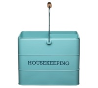 Living Nostalgia Vintage Blue Housekeeping Box