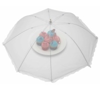 KitchenCraft 76cm White Umbrella Food Cover