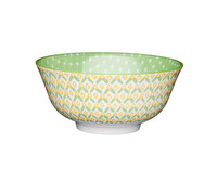 KitchenCraft Green Geometric Ceramic Bowls