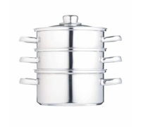 Kitchen Craft Stainless Steel Three Tier 16cm Steamer