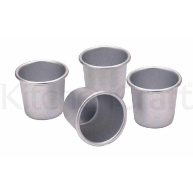 Kitchen Craft Set of Four Anodised 6.5cm Dariole Moulds