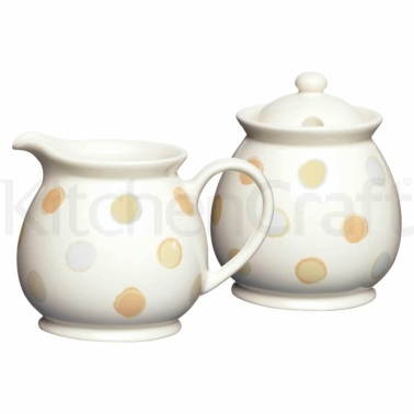 Classic Collection Ceramic Sugar Pot and Cream Jug Set