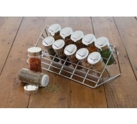 Home Made Chrome Plated Spice Rack Set