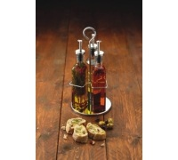 World of Flavours Italian 3 Bottle Glass Oil and Vinegar Set