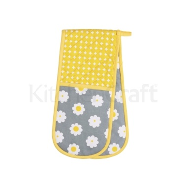 KitchenCraft Retro Flower Double Oven Glove