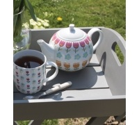 Kitchen Craft Folky Floral Fine Porcelain 4 Cup Teapot