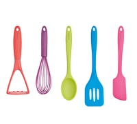 Colourworks Brights 5 Piece Complete Kitchen Utensil Set