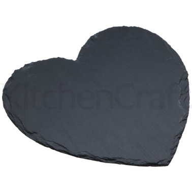 MasterClass Appetiser Slate Heart Shaped Serving Platter