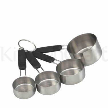MasterClass Stainless Steel 4 Piece Measuring Cup Set