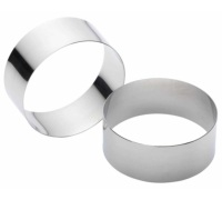 Kitchen Craft Set of Two Stainless Steel Large Cooking Rings