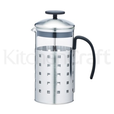 Le'Xpress 1 Litre Glass and Stainless Steel Cafetiere