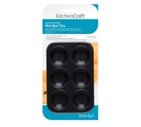 KitchenCraft Set of Two Non-Stick Mini Six Hole Bun Trays