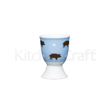 KitchenCraft Retro Pig Porcelain Egg Cup