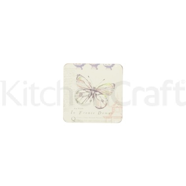 Coolmovers Butterfly Lane Set of 4 Laminated Coasters
