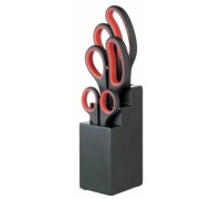 Kitchen Craft 3 Piece Scissor Set and Black Block