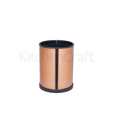 Master Class Rotating Copper Finish Utensil Holder