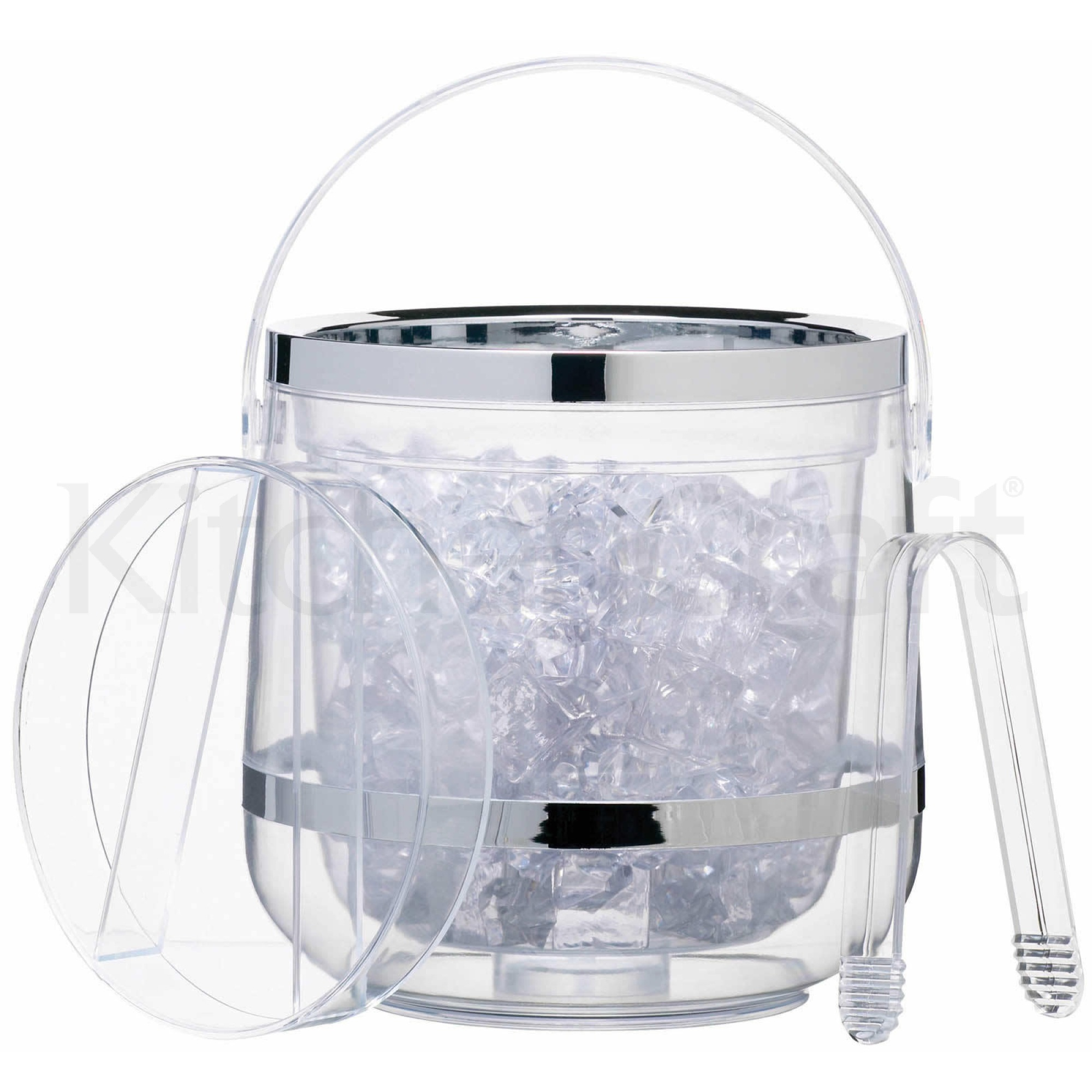 barcraft acrylic double walled insulated ice bucket parties
