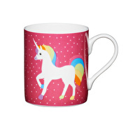KitchenCraft Set of Four Bone China Unicorn Mini Mugs
