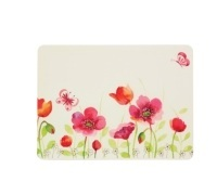 KitchenCraft Poppy Field Cork Back Laminated Set of 4 Placemats