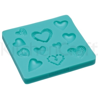 Sweetly Does It Hearts Silicone Fondant Mould