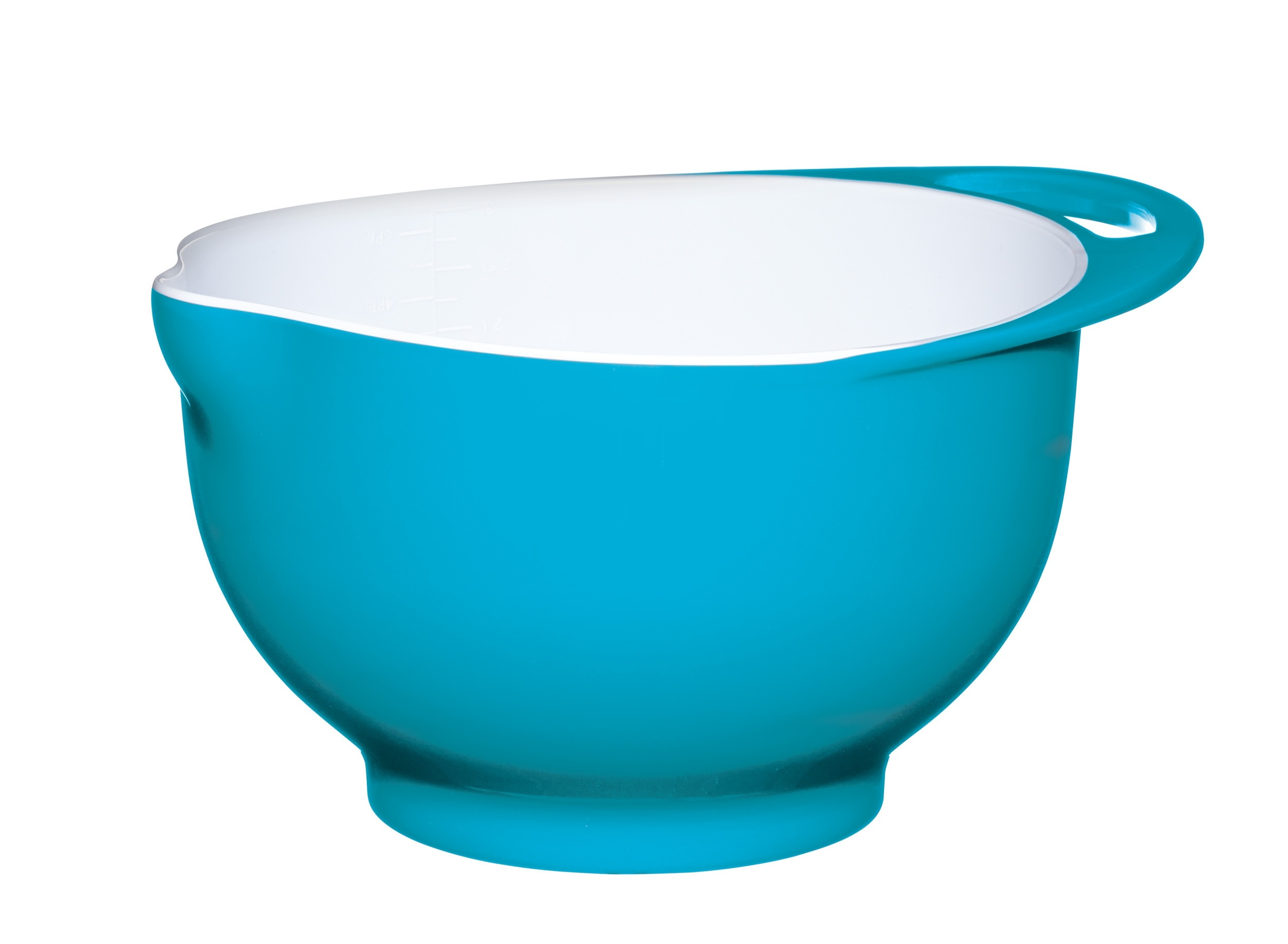 Colourworks medium blue melamine two tone mixing bowl for Kitchen craft cookware prices