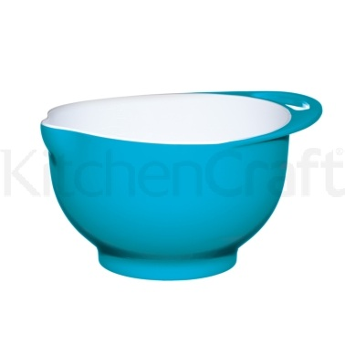 Colourworks Medium Blue Melamine Two Tone Mixing Bowl