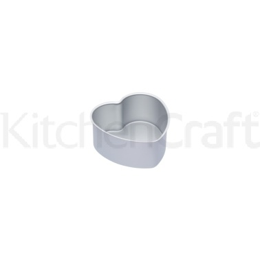 Master Class Silver Anodised 15cm Loose Based Heart Cake Pan