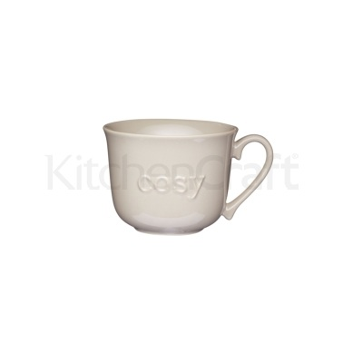KitchenCraft Stoneware Embossed Cosy Breakfast Cup