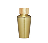 BarCraft 250ml Brass Finish Mini Cocktail Shaker